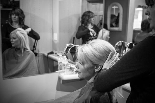 wedding day hair and makeup prep