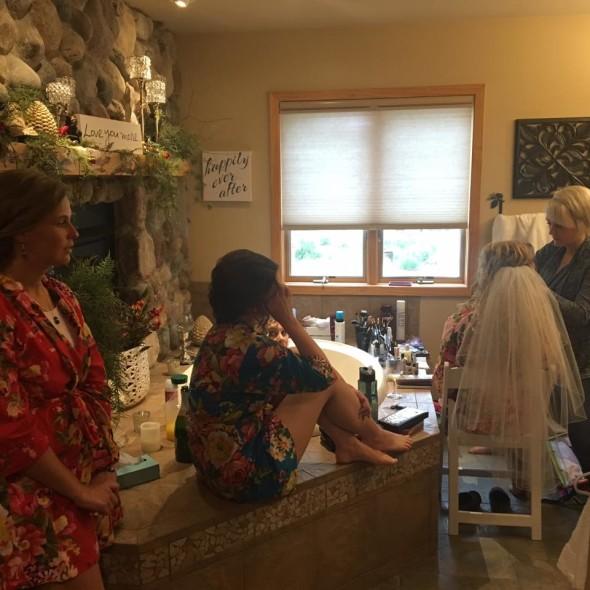bridal makeup at pine peaks event center