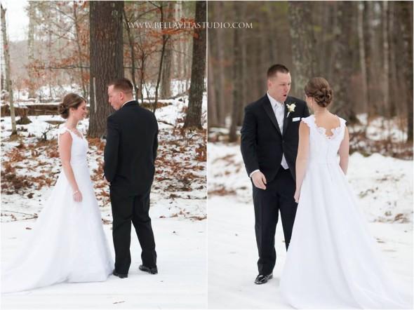 bride 1st look