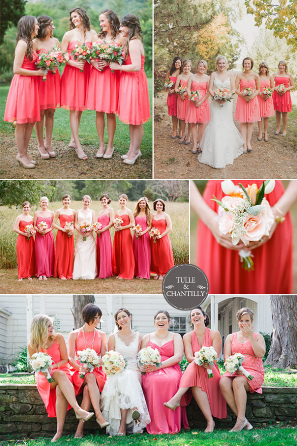 strawberry-ice-coral-inspired-wedding-and-bridesmaid-dresses-2015