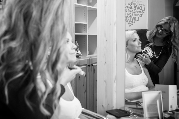 wedding day hair and makeup prep
