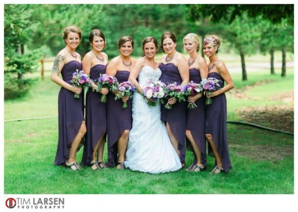captivating-beauty at Pine Peaks summer wedding