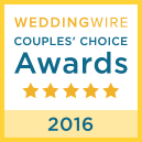 WeddingWire Couples Choice Award Winner 2016