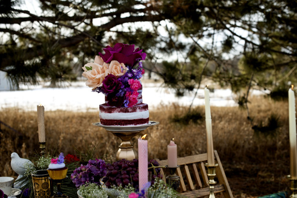 naked wedding cakes with flowers in brainerd mn