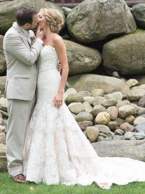 Wedding Day Hair At WhiteFish Lodge in Cross Lake MN