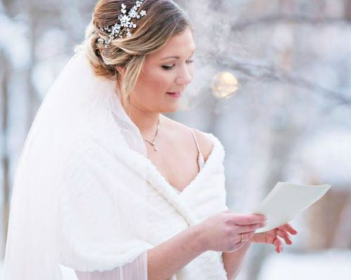 Winter Wedding Makeup at Breezy Point